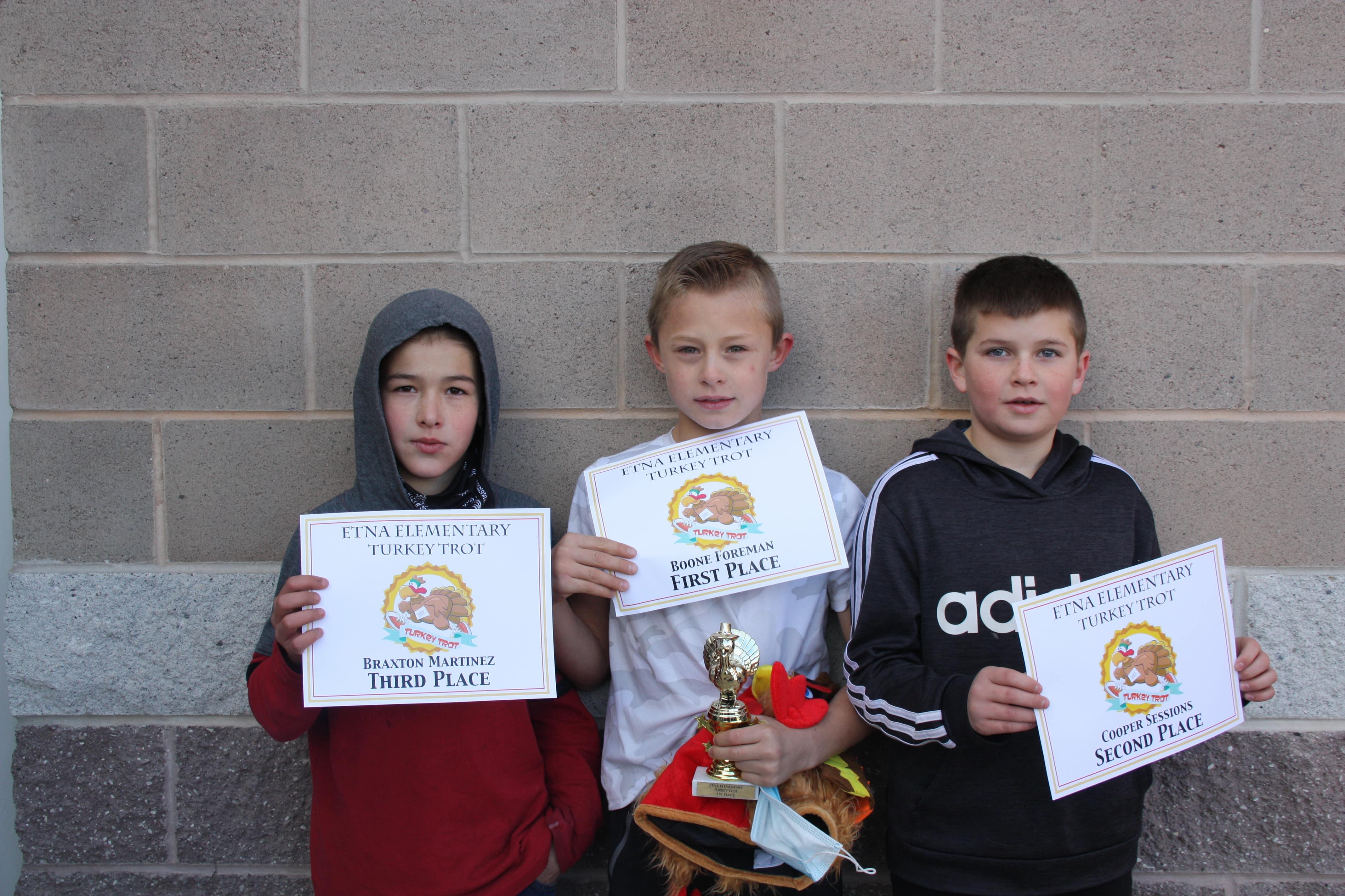 Braxton, Boone, Cooper - Turkey Trot Winners