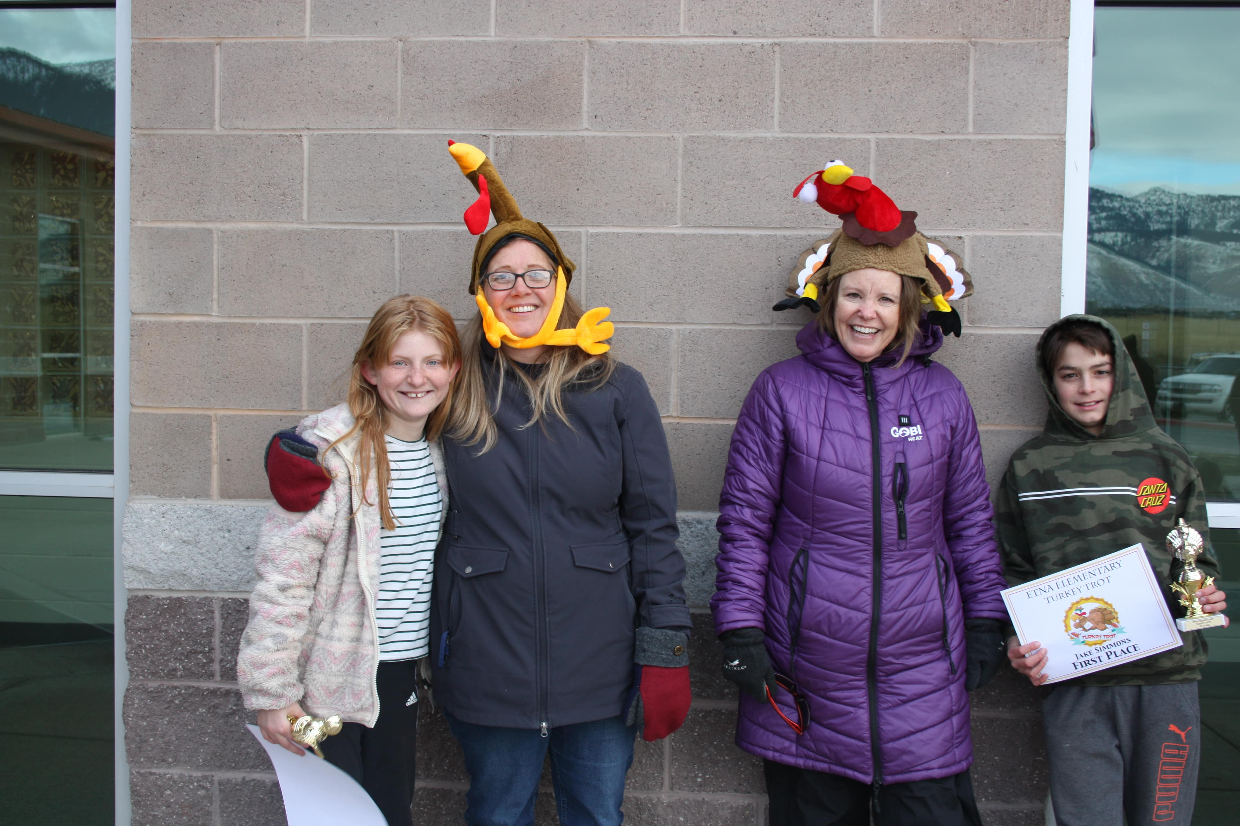 Staff and students at Turkey Trot 2020